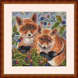 Foxes Cross Stitch Kit By  Merejka