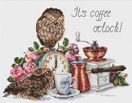 It's Coffee O'Clock Cross Stitch Kit By  Merejka