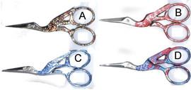 Optima Stork Coloured Scissors
