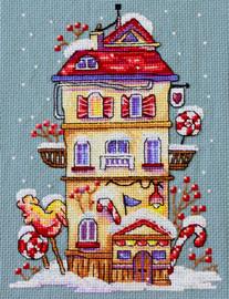 Winter House Cross Stitch Kit By Merejka