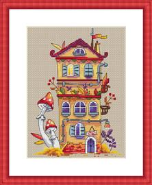 Autumn House Cross Stitch Kit By  Merejka