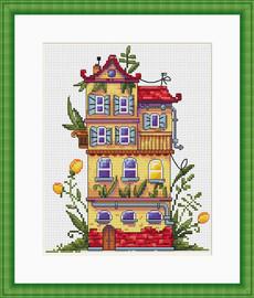 Spring House Cross Stitch Kit By  Merejka