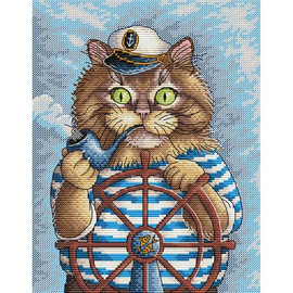 Kitten Boat Cross Stitch Kit by MP Studia