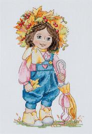 Autumn Girl Cross Stitch Kit By Merejka