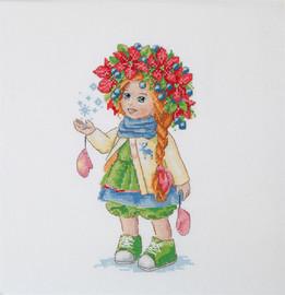 Winter Girl Cross Stitch Kit By  Merejka