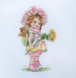 Summer Girl Cross Stitch Kit By Merejka