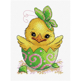 Easter Chick Cross Stitch Kit by MP Studia