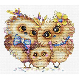 Bird Family  Cross Stitch Kit by Mp Studia