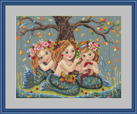 Mermaids Cross Stitch Kit by Merejka