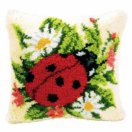 Latch Hook Kit: Cushion: Ladybird By Vercaco
