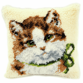 Latch Hook Kit: Cushion: Kitten By Vervco