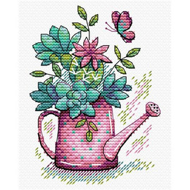 Beautiful Flowers Cross Stitch Kit by MP Studia