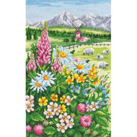 ALPINE MEADOW cross stitch kit by Andriana
