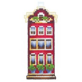 RED HOUSE cross stitch by Adriana