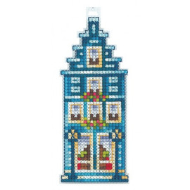 TURQUOISE HOUSE cross stitch kit by Adriana