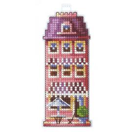 PINK HOUSE cross stitch kit by adriana