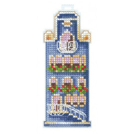 BLUE HOUSE cross stitch kit by andriana