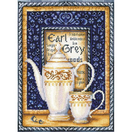 TEA COLLECTION. EARL GRAY cross stitch kit by Andriana