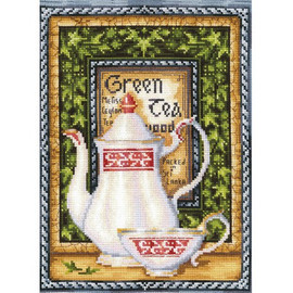 TEA COLLECTION. GREEN MELISSA  cross stitch kit by Andriana