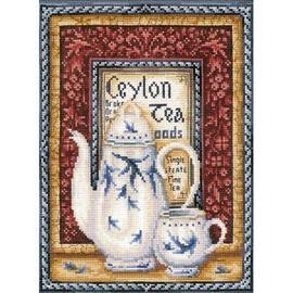 TEA COLLECTION. ORANGE PEKOE cross stitch kit by Andriana