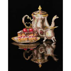COFFEE FOR TWO  cross stitch kit by Andriana