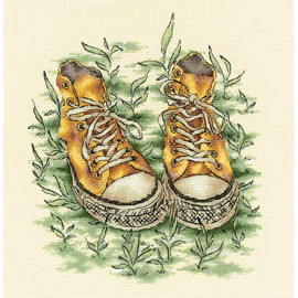 SNEAKERS cross stitch kit by Andriana