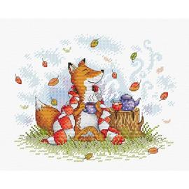 Autumn Tea cross stitch kit by MP studia