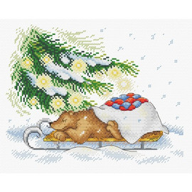 Holiday Retreat Cross stitch Kit by MP Studia