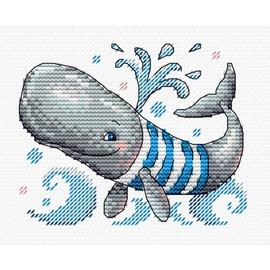 Funny Swimmer Cross Stitch Kit by MP Studia