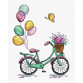 Bike Ride Cross Stitch Kit by MP Studia