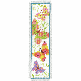 Counted Cross Stitch Kit: Bookmark: Butterflies I By Vervaco