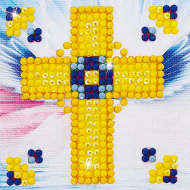 Diamond Painting Kit: Golden Cross