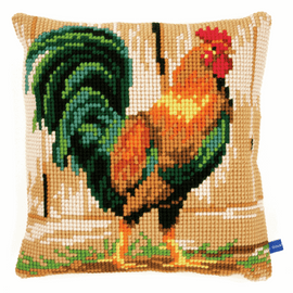 Cross Stitch Kit: Cushion: Rooster
