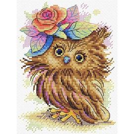 Charming Owl Cross stitch Kit by Mp Studia
