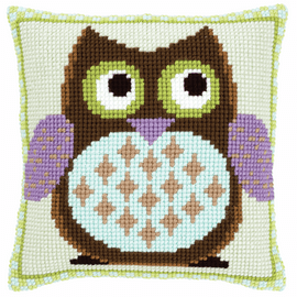Cross Stitch Kit: Cushion: Mister Owl By Vervaco