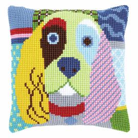 Cross Stitch Kit: Cushion: Modern Dog By Vervaco