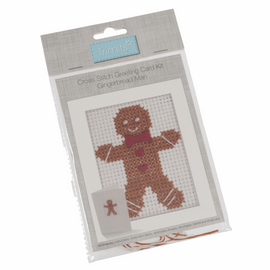 Gingerbread Man Cross Stitch Kit by  Trimmit