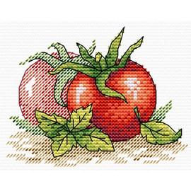 Ripe Tomatoes Cross Stitch Kit by Mp Studia