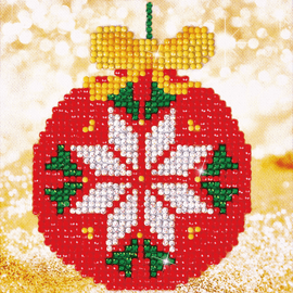Diamond Painting Kit: Red Bauble