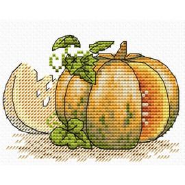 Pumpkin Cross Stitch Kit by Mp Studia
