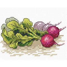 Radish Cross Stitch by Mp Studia