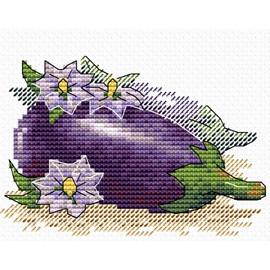 Egg plant Cross Stitch Kit by MP studia