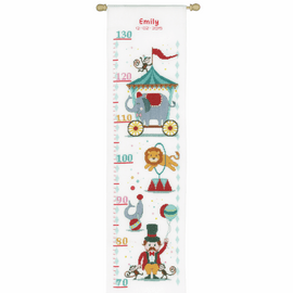 Counted Cross Stitch Kit: Height Chart: Circus by Vervaco