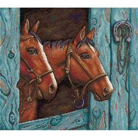 Pair of Horses Cross Stitch Kit by MP Studia
