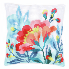 Cross Stitch Kit: Cushion: Bright Flowers By Vervaco