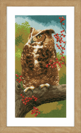Counted Cross Stitch Kit: Owl in Autumn By Vervaco