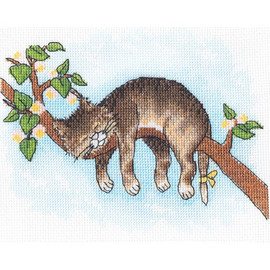DON'T WAKE UP!-Cross stitch kit by Andriana