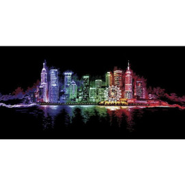 NIGHT TOWN- Cross stitch kit by Andriana