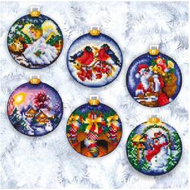 CHRISTMAS BALLS - Cross stitch kit by Andriana