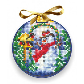 CHRISTMAS BALLS SNOWMAN- Cross stitch kit by Andriana